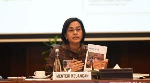 Menkeu Sri Mulyani Indrawati menyampaikan keterangan pers di kantor Kemenkeu, Jakarta, Jumat (21/6). (Foto: Humas Kemenkeu)