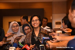 Minister of Finance talks to reporters in Jakarta, Wednesday (5/6). (Photo: Ministry of Finance)