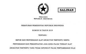 PP No. 50 Tahun 2019