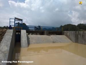 Embung Pea Parsinagan, salah satu embung yang dibangun pemerintah di P. Samosir. (Foto: BKP Kemenerian PUPR)