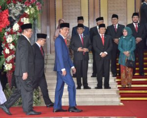 Presiden Jokowi menghadiri Sidang Tahunan MPR RI Tahun 2019, di Gedung Nusantara MPR/DPR/DPD-RI, Jakarta, Jumat (16/8) pagi. (Foto: Deny S/Humas)