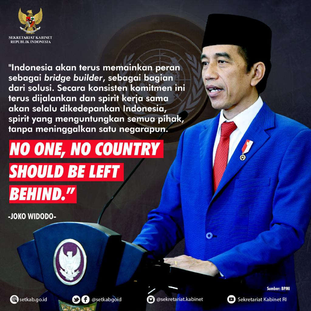 Pidato Presiden Joko Widodo pada Sesi Debat Umum Sidang Majelis Umum ke-75 PBB