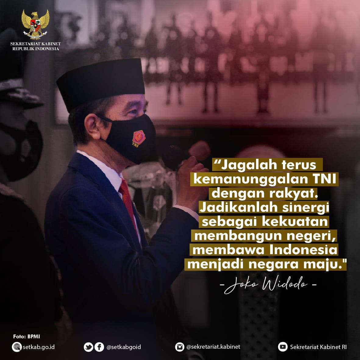 Sambutan Presiden Joko Widodo pada HUT ke-75 TNI