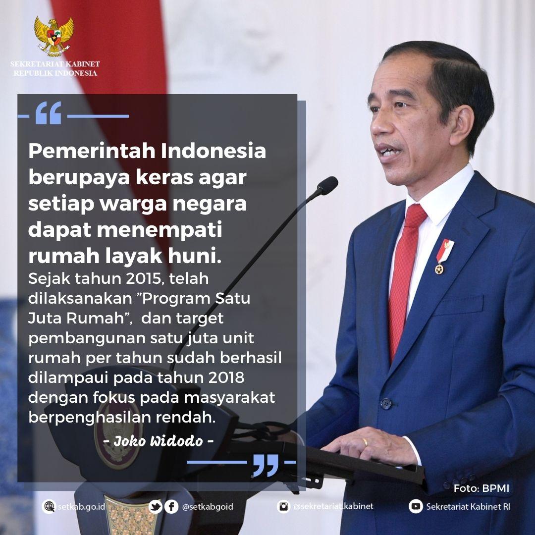 Pesan Presiden Joko Widodo pada Peringatan Global Hari Habitat Dunia 2020 di Kota Surabaya, Senin (5/10).