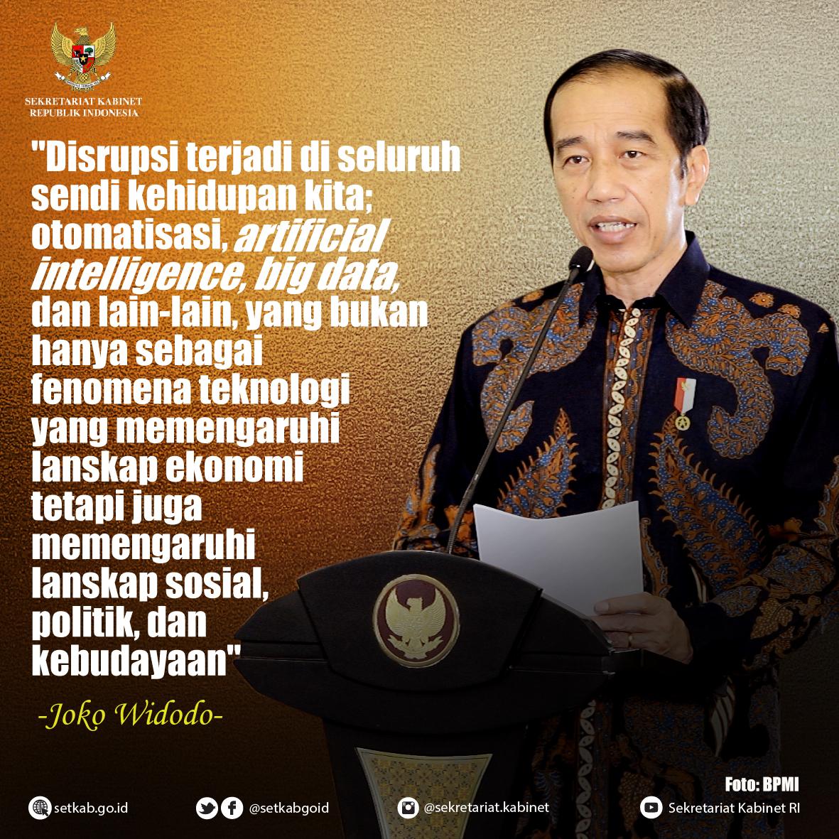 """Pesan Presiden Joko Widodo pada Studium Generale LPDP """"Rekacipta Generasi Muda Menuju Indonesia Emas"""", Senin (2/11)"""