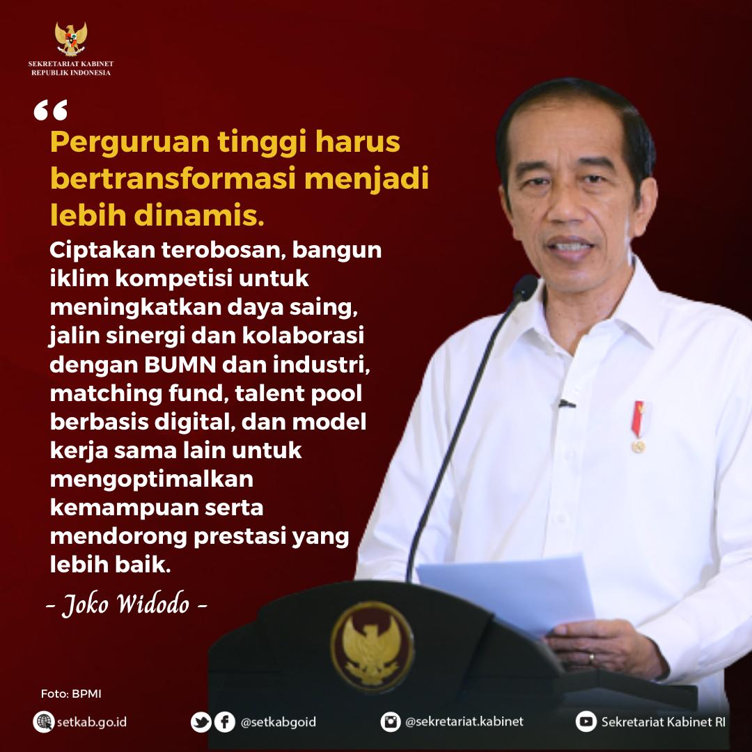 Pesan Presiden Joko Widodo pada Peluncuran Program Merdeka Belajar Episode 6, Selasa (3/11)