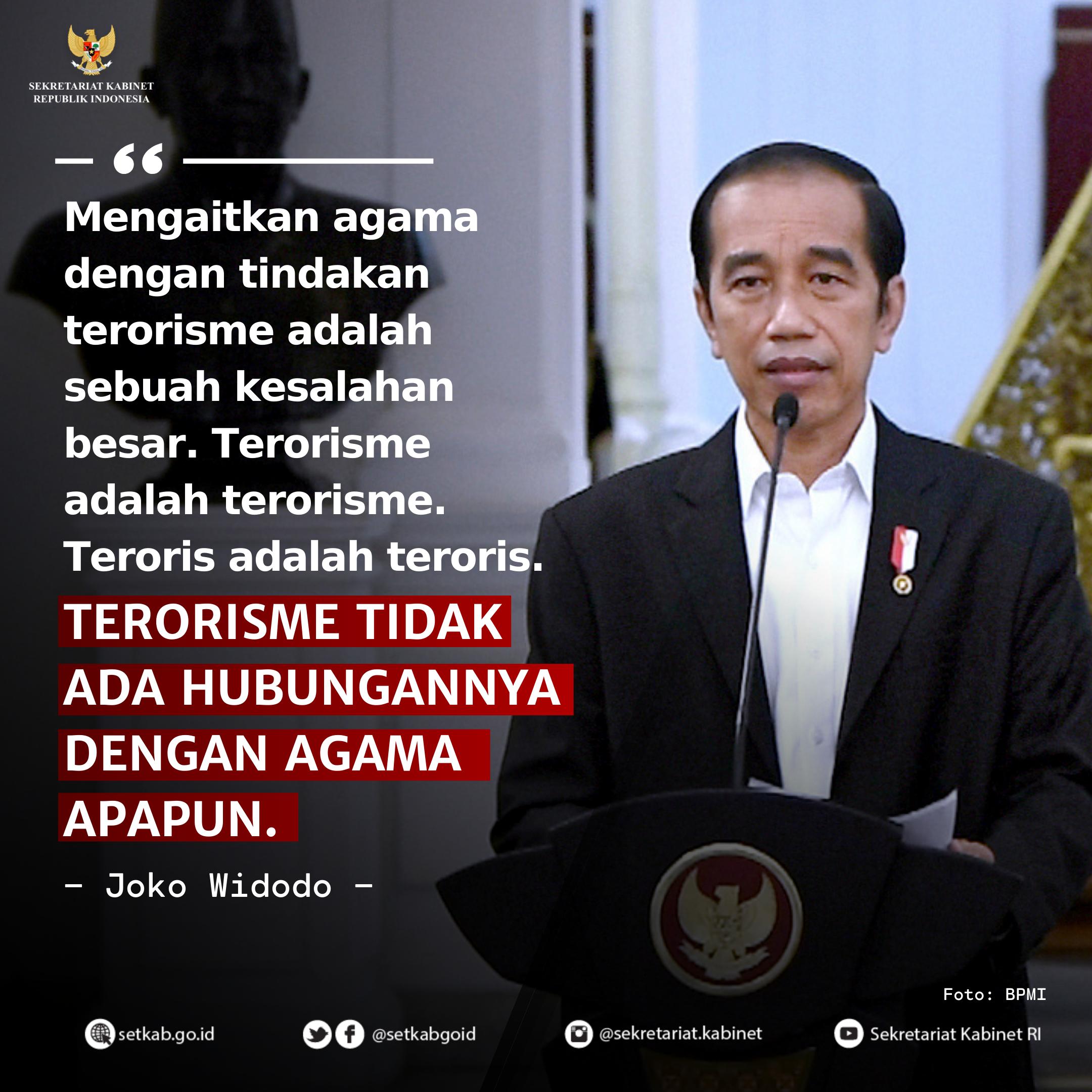 Pernyataan Pers Presiden Joko Widodo Usai Bertemu Para Pemuka Agama di Indonesia, Sabtu (31/1)