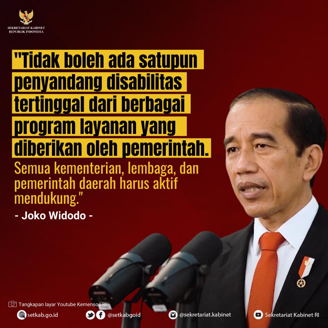 #PernyataanPresiden Joko Widodo pada Peringatan Hari Disabilitas Internasional 2020