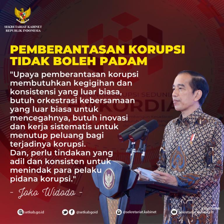 Arahan Presiden Joko Widodo pada Peringatan Hari Antikorupsi Sedunia 2020