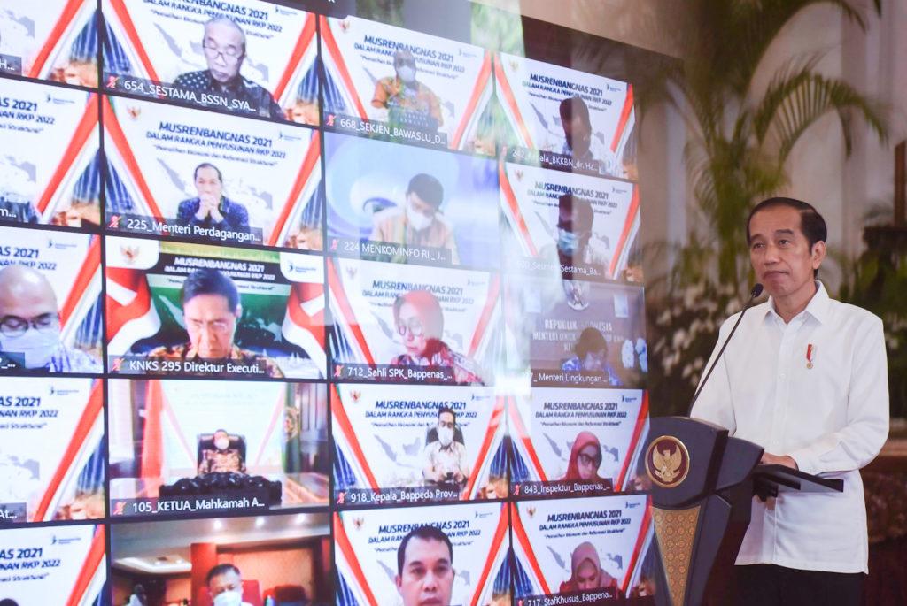 Presiden Jokowi Musrenbangnas 2021