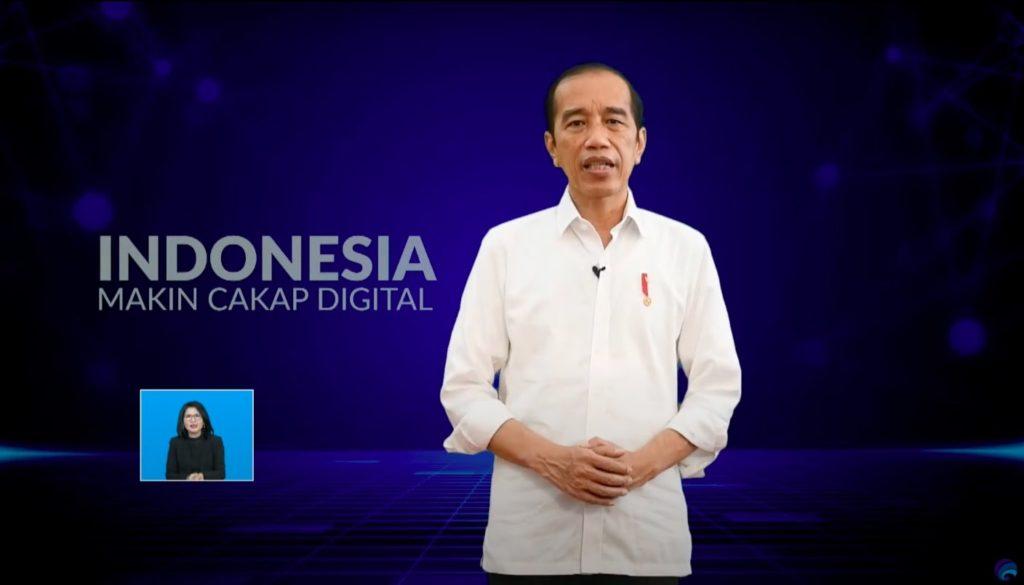 Jokowi pada Peluncuran Program Literasi Digital Nasional
