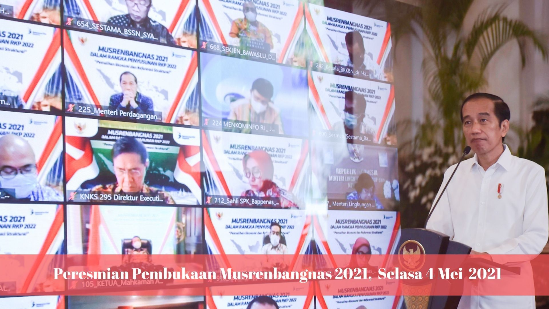 Peresmian Pembukaan Musrenbangnas Tahun 2021, Istana ...