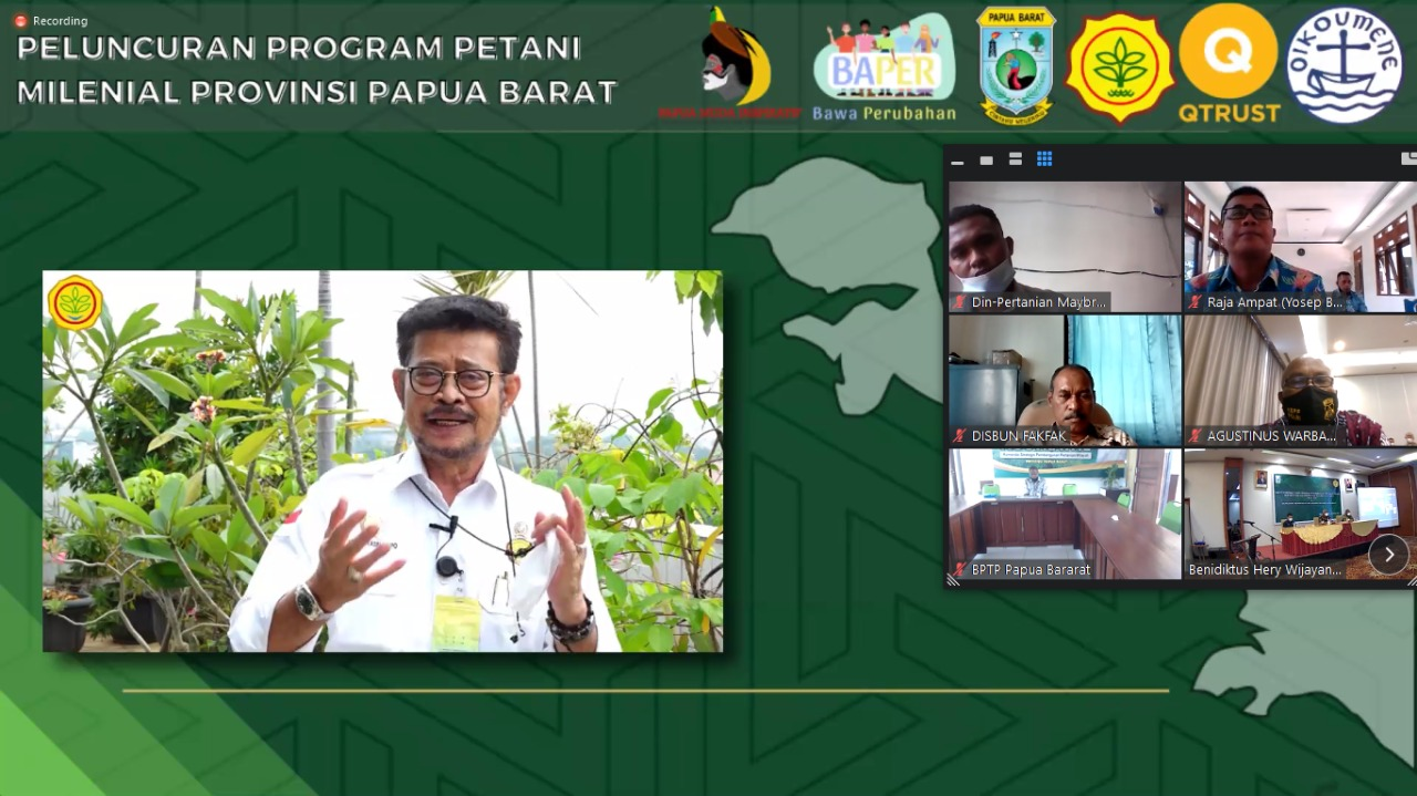Peluncuran Program Petani Milenial Papua Barat