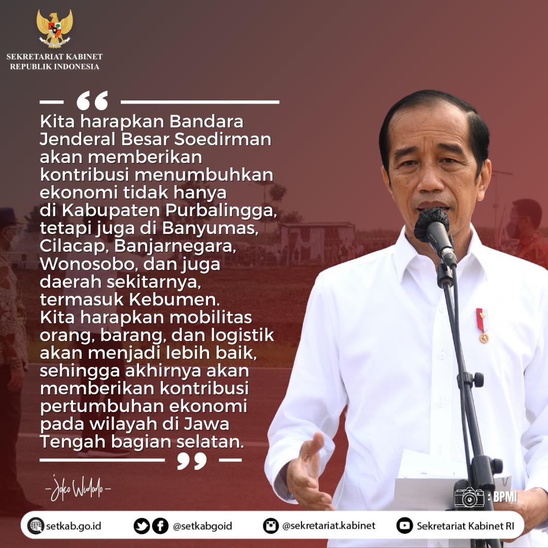 Pernyataan Presiden RI usai Peninjauan Bandara JB Soedirman