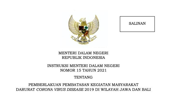 INMENDAGRI 15 TAHUN 2021