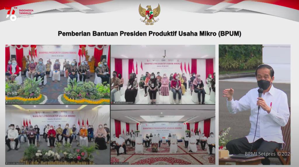 Presiden Jokowi BPUM